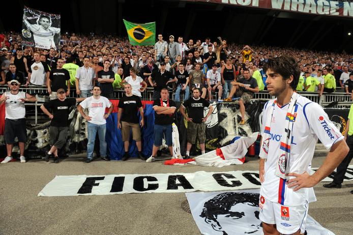 Juninho bij zijn afscheid bij Olympique Lyon in 2009.