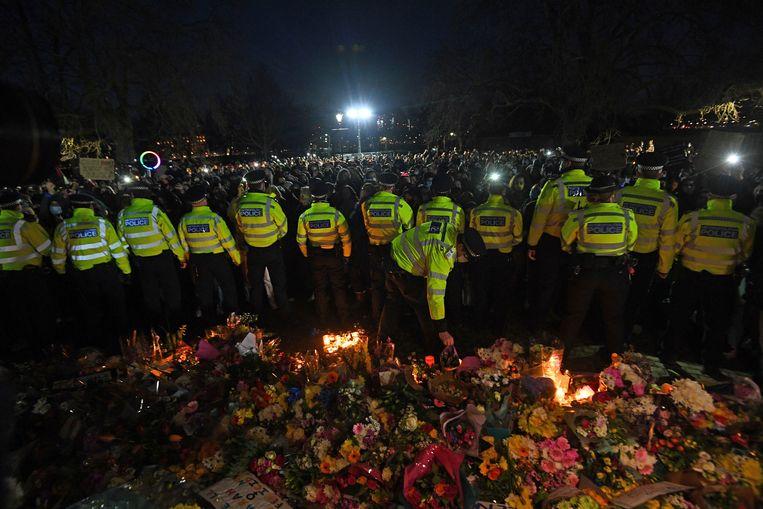 Politie bij Clapham Common. Beeld AP