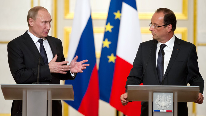 Vladimir Poutine en visite à l'Elysée (archives, juin 2012)