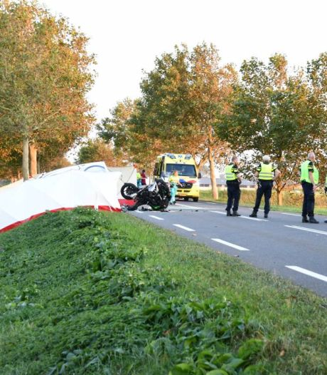 Motorrijder (46) overleden bij aanrijding met bestelbus in Sint-Annaland