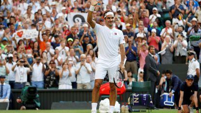 Federer zet reeks voort op Wimbledon en slaat record Connors aan diggelen