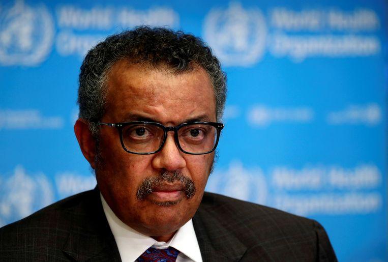 Tedros Adhanom Ghebreyesus, de algemeen directeur van de Wereldgezondheidsorganisatie WHO. Beeld REUTERS