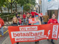 Flitsprotest tegen woningnood in Zwolse binnenstad: 'Eerste van vele'