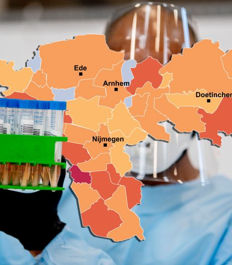 CORONAKAART | Enorme contrasten: in Tiel bijzonder veel, in Wijchen en Winterswijk bijzonder weinig besmettingen