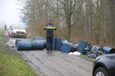 Illgeale drugsdumping op de Markdijk in Zevenbergen.