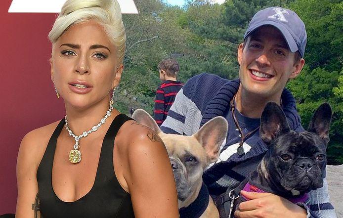 Lady Gaga en haar hondenuitlater Ryan Fischer.