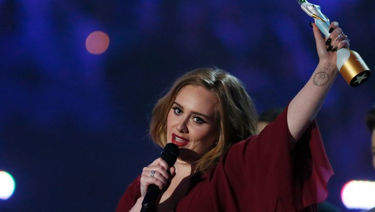 Grote winnares Adele. Beeld REUTERS