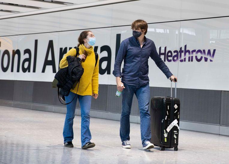 De aankomsthal van Heathrow, het grootste vliegveld van het VK. Beeld Photo News
