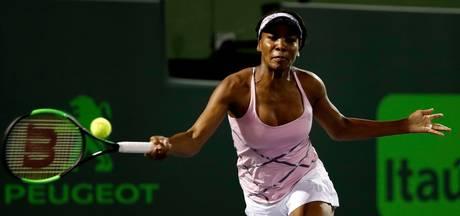 Venus Williams twintig jaar na debuut weer in kwartfinales Miami