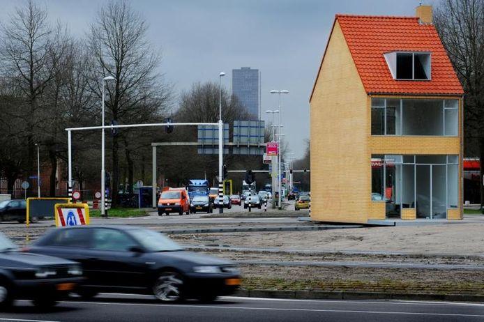 Het Draaiende Huis op de Hasseltrotonde in Tilburg. foto's John Schouten/PVE