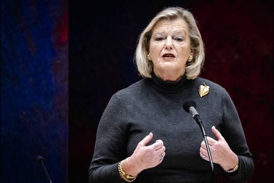 Ankie Broekers-Knol, staatssecretaris van Justitie en Veiligheid, tijdens het wekelijks vragenuur in de Tweede Kamer.
