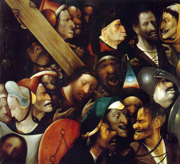 Wie 'De kruisdraging' ook heeft geschilderd, het blijft hoe dan ook een fascinerend werk. Beeld rv