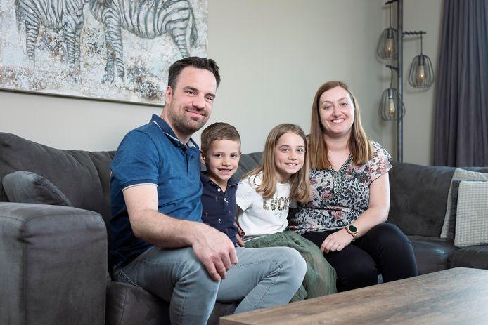 Kim Keysers en haar gezin.