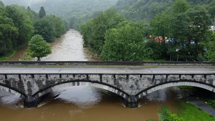 Dronebeelden wateroverlast