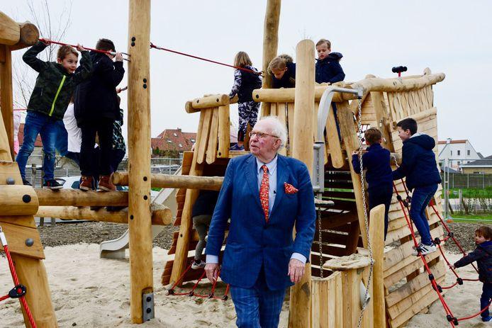 De opening van speelplein wijk Heulebrug: de gemeente investeerde er 115.000 euro.