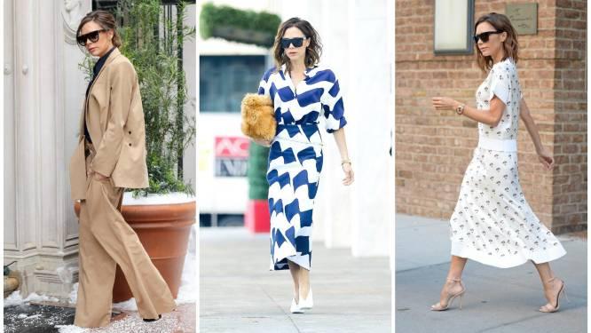 Het favoriete kledingtrucje van Victoria Beckham om groter en slanker te lijken