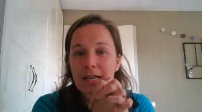 Marije Spangenberg live op Facebook.
