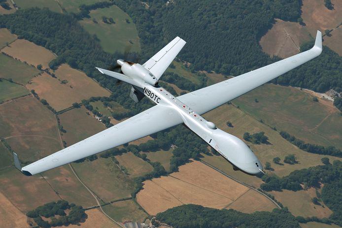 Een foto van het type drone (MQ-9B SkyGuardian) dat het Pentagon voor België heeft besteld.