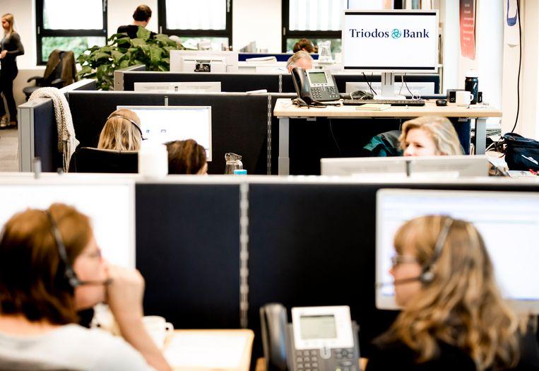 De afdeling klantcontact van Triodos Bank Nederland.  Beeld Hollandse Hoogte /  ANP XTRA