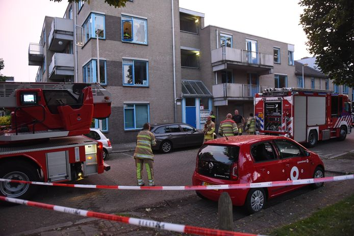 Schade aan woningen in de Boisotstraat in Geuzenwijk