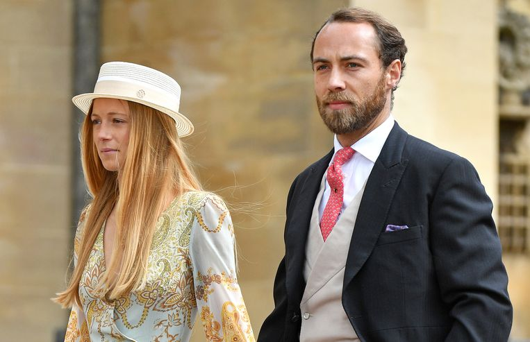 WINDSOR, UNITED KINGDOM - MAY 18: (EMBARGOED FOR PUBLICATION IN UK NEWSPAPERS UNTIL 24 HOURS AFTER CREATE DATE AND TIME) Alizee Thevenet and James Middleton attend the wedding of Lady Gabriella Windsor and Thomas Kingston at St George's Chapel on May 18, 2019 in Windsor, England. (Photo by Pool/Max Mumby/Getty Images) Beeld Getty