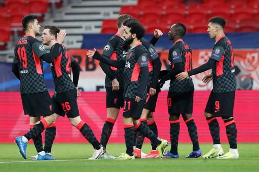 Liverpool won zonder veel moeite van Leipzig.