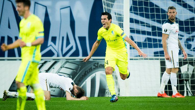 Perbet scoorde het enige doelpunt in de heenwedstrijd.