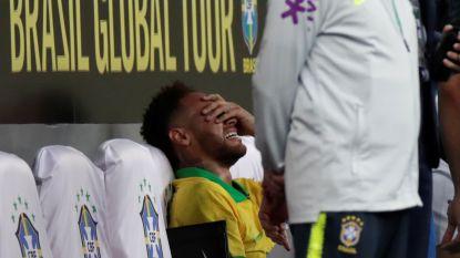 VIDEO. Nu ook óp het veld miserie: Neymar mist Copa America en barst in tranen uit