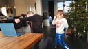 Gymles voor Tuur (7) en Senn (5) Roelofs, leerlingen van basisschool De Vonder in Ven-Zelderheide.