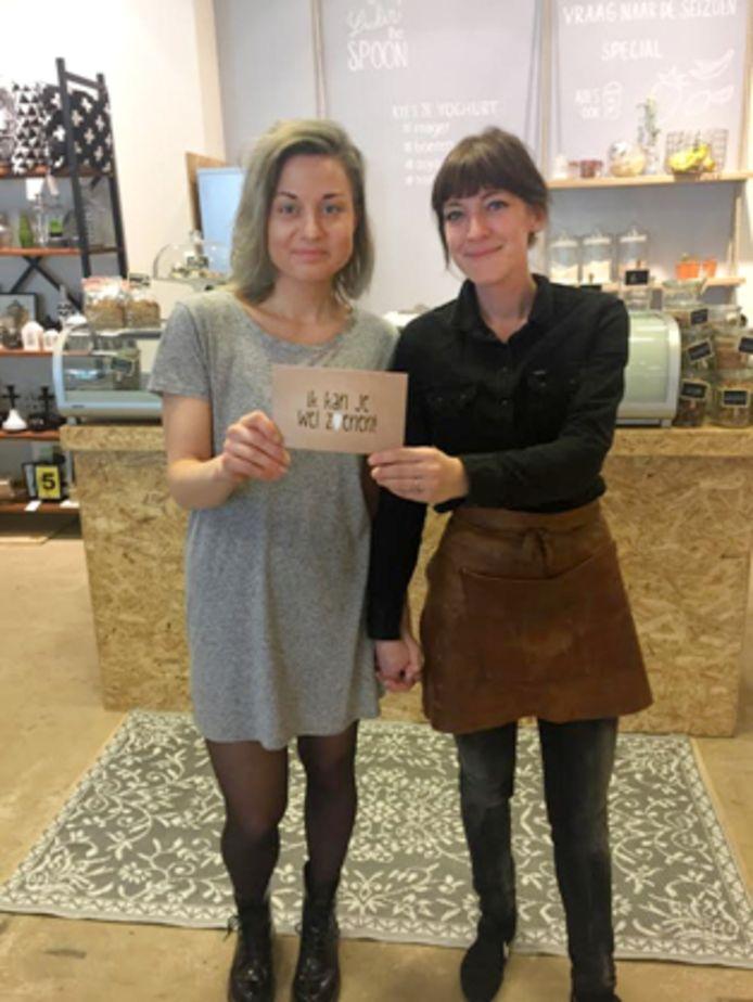 Charlotte de Weerdt (26) en Jeske Lange (32) uit Zwolle