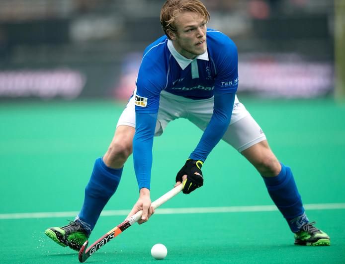 Jip Janssen scoorde namens Kampong, maar het mocht niet baten. De Utrechters zijn uitgeschakeld.