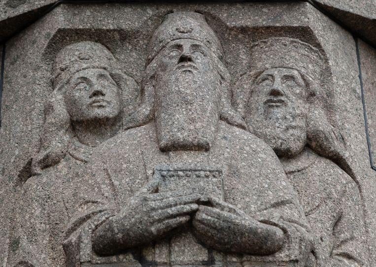 5 juni zochten we het gevelbeeld van de drie koningen, op het Gebouw Driekoningen uit 1920 op de hoek van het Singel en de Driekoningenstraat. Winnaar van het jaarabonnement op Ons Amsterdam is Hein Bruning. Beeld Nina Schollaardt