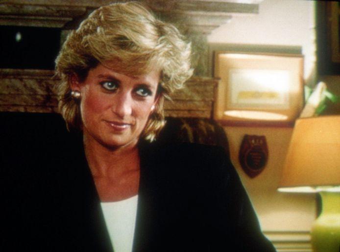 La princesse Diana dans son interview avec la BBC en 1995.