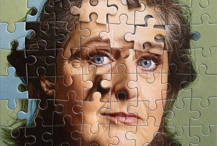 Beeld van het affiche van de theatervoorstelling 'Je kunt me gerust een geheim vertellen, een positief verhaal over dementie'.