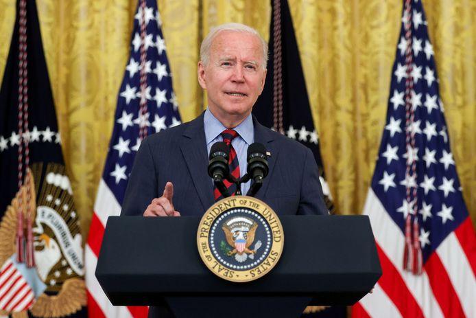 De Amerikaanse president Joe Biden.