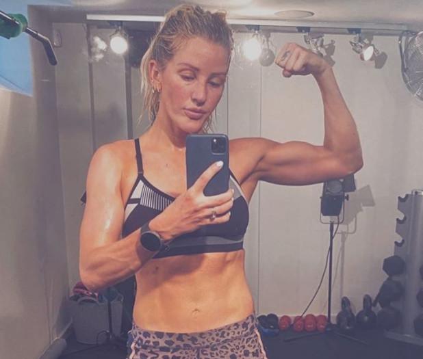 Ellie Goulding in de gym.