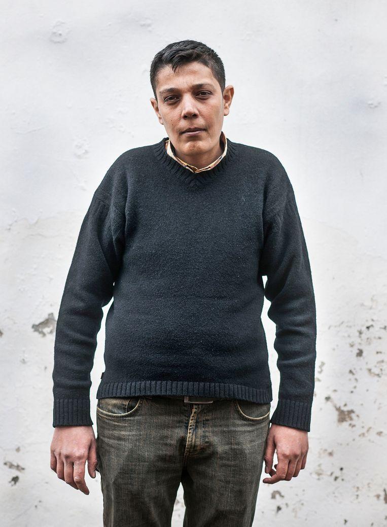 De Syriër Mazen Hamada, hij heeft anderhalf jaar gevangen gezeten en is gemarteld door het regime van Assad. Beeld Guus Dubbelman / de Volkskrant