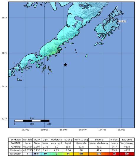 Tsunamigevaar Alaska geweken na zwaarste aardbeving in ruim 50 jaar