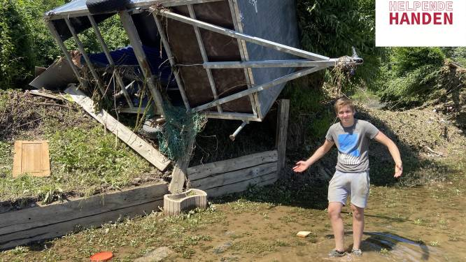 """Vzw Wriemel vindt werfkeet en aanhangwagens terug: """"800 meter verder in een boom en zwaar beschadigd"""""""