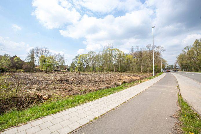 De bomen op de lap grond werden vorige maand al gerooid.