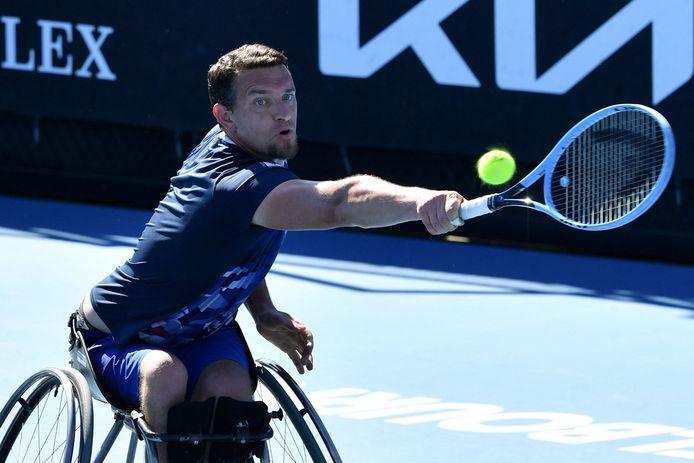 Joachim Gerard lors de la finale en simple face à Alfie Hewett