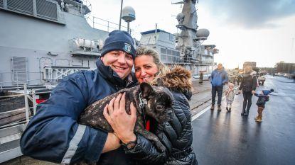 Emotioneel weerzien voor bemanning fregat Louise-Marie in Zeebrugge