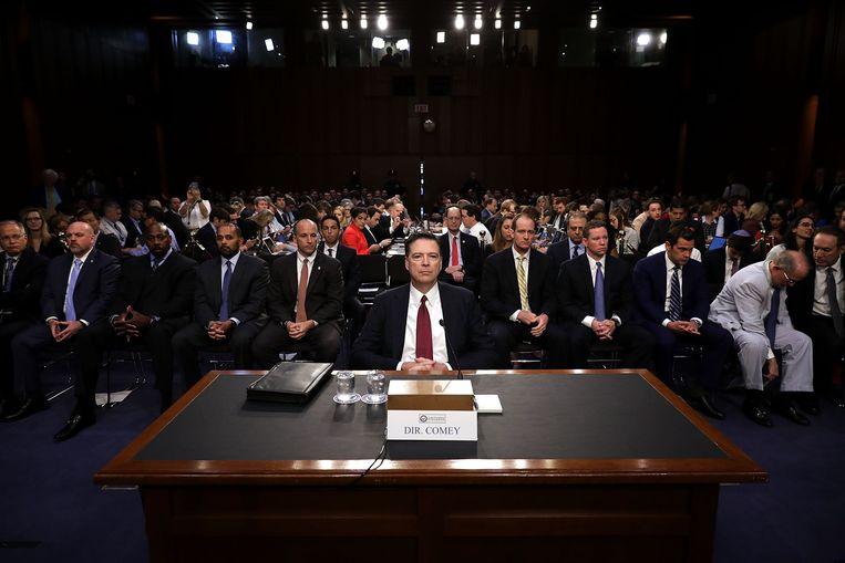 Ex-FBI-topman James Comey. Beeld AFP