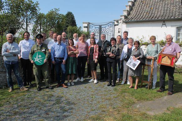De deelnemers van de Erfgoeddag Pajottenland & Zennevallei.