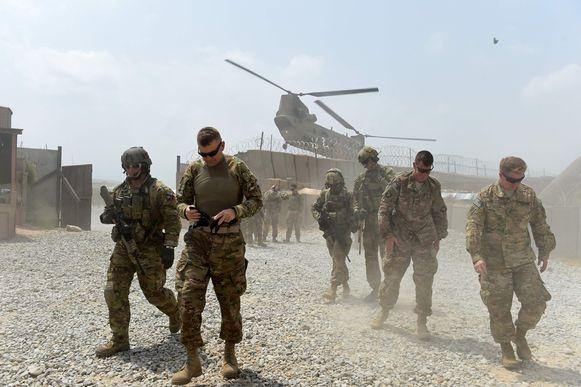 Amerikaanse soldaten in Syrië, 2015.