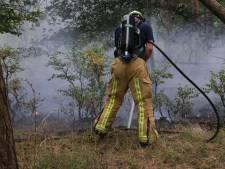 Alertheid na bosbrand in Milheeze, deel ligweide bij strandbad afgezet