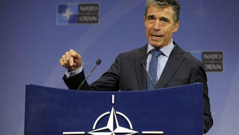Anders Fogh Rasmussen, secretaris-generaal van de NAVO. Beeld reuters