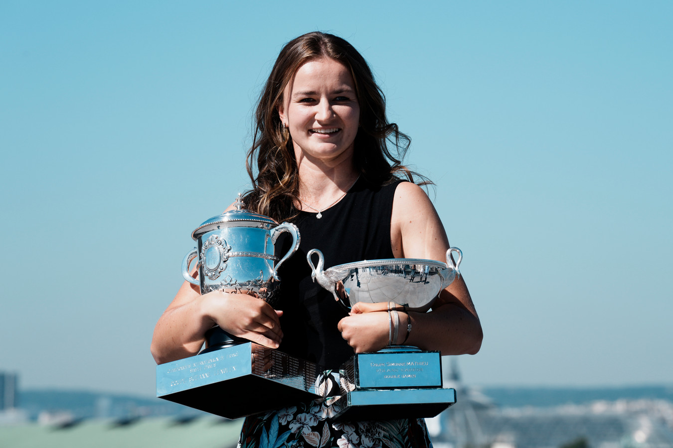 Barbora Krejcikova na het winnen van Roland Garros vorige maand.