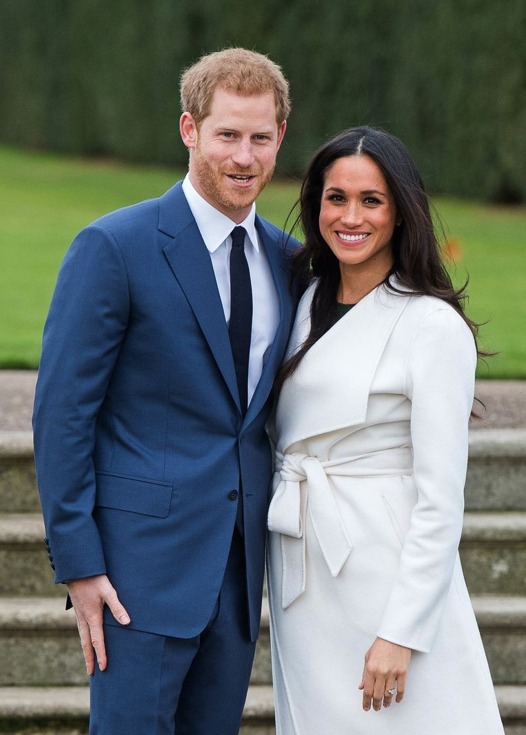 Prins Harry en Meghan Markle. Beeld Photo News