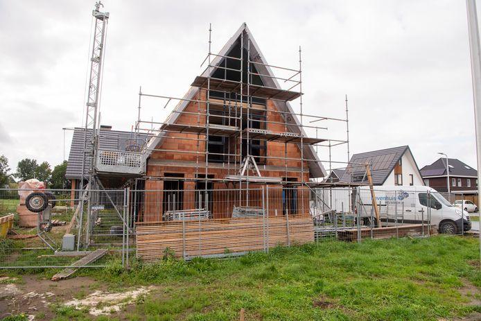 Nieuwbouw in Ommer uitbreidingswijk Vlierlanden.